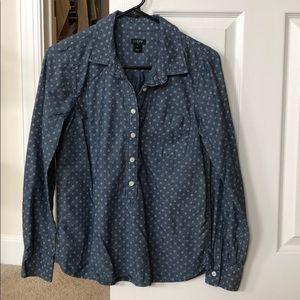 J crew long sleeve button up shirt